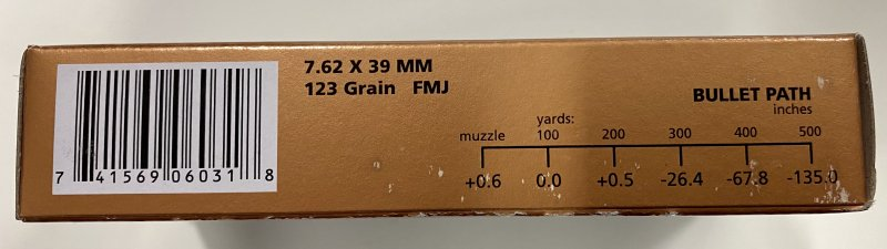 PMC 7.62x39 Brass Case - 500 rounds  Picture