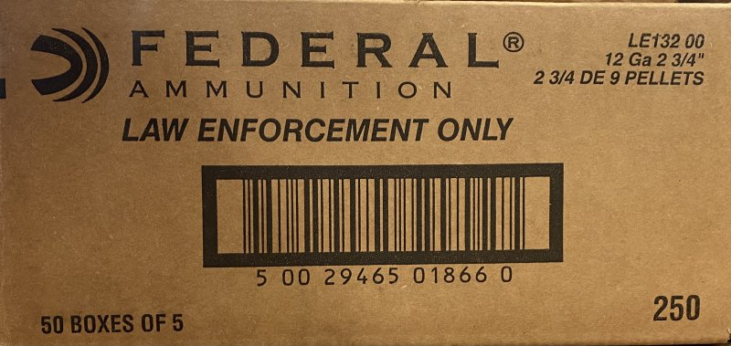 Federal Premium LE OO Buck - 250 rounds  Picture