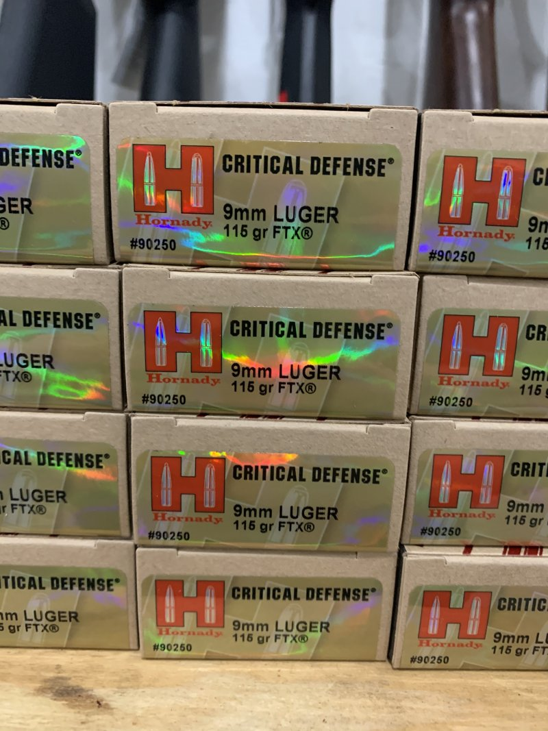 Hornady Critical Defense 9mm ammo Picture