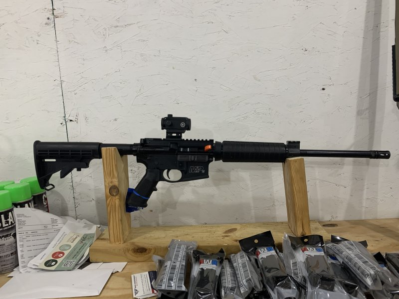 S&W m&p15 556 with red dot Picture