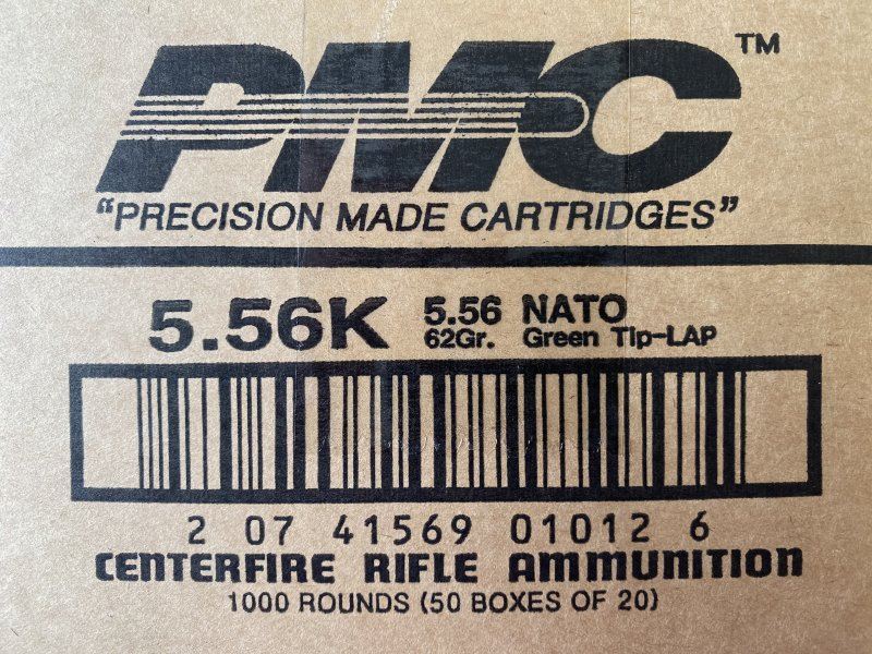 1000 rounds of PMC 5.56 Green Tip  Picture