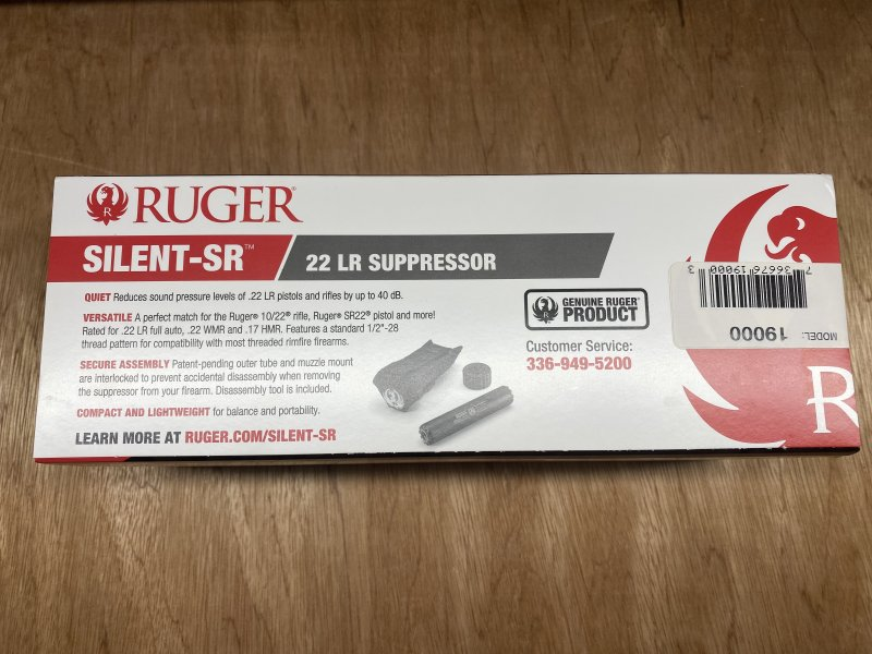 Ruger Silent-SR 22lr Suppressor  Picture