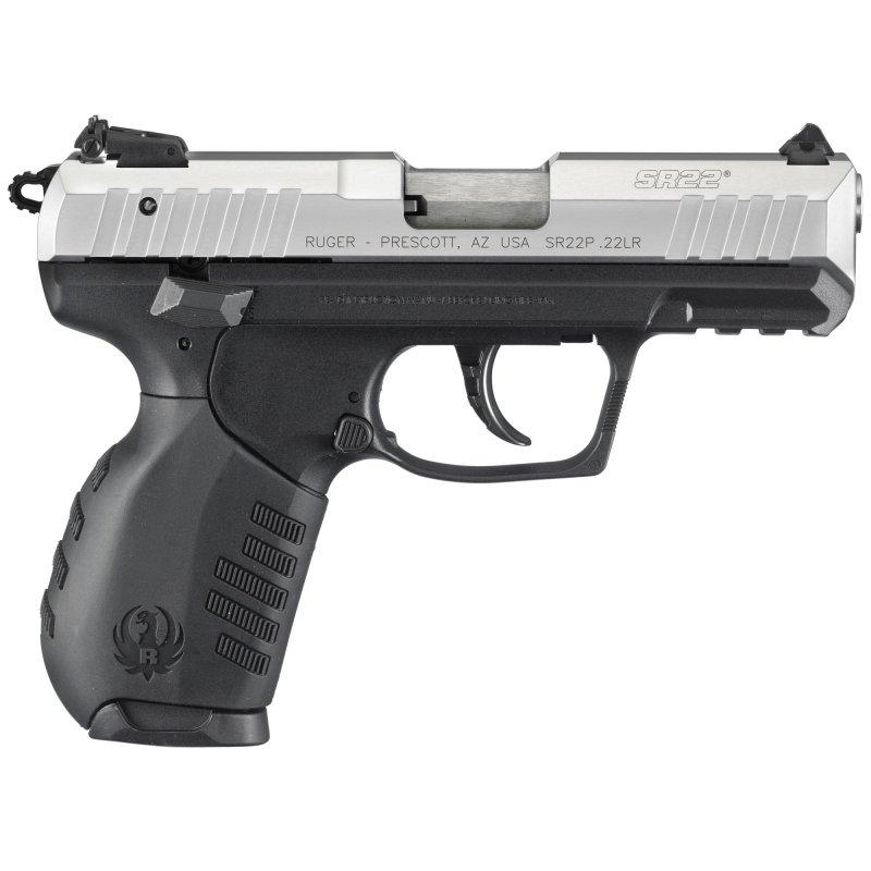 """Ruger SR22 pistol .22 lr Silver/Blk 3.5"""" bbl NEW #3607 Picture"""